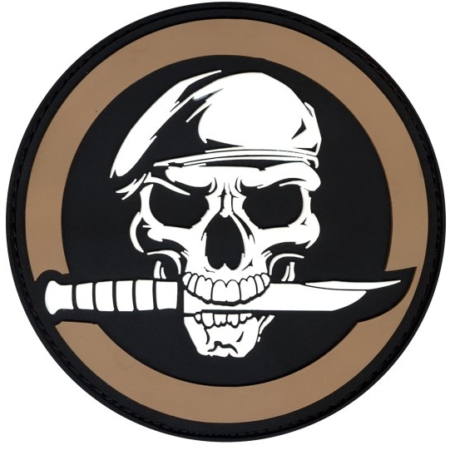 RC72197 * PVC Military Skull & Knife Patch